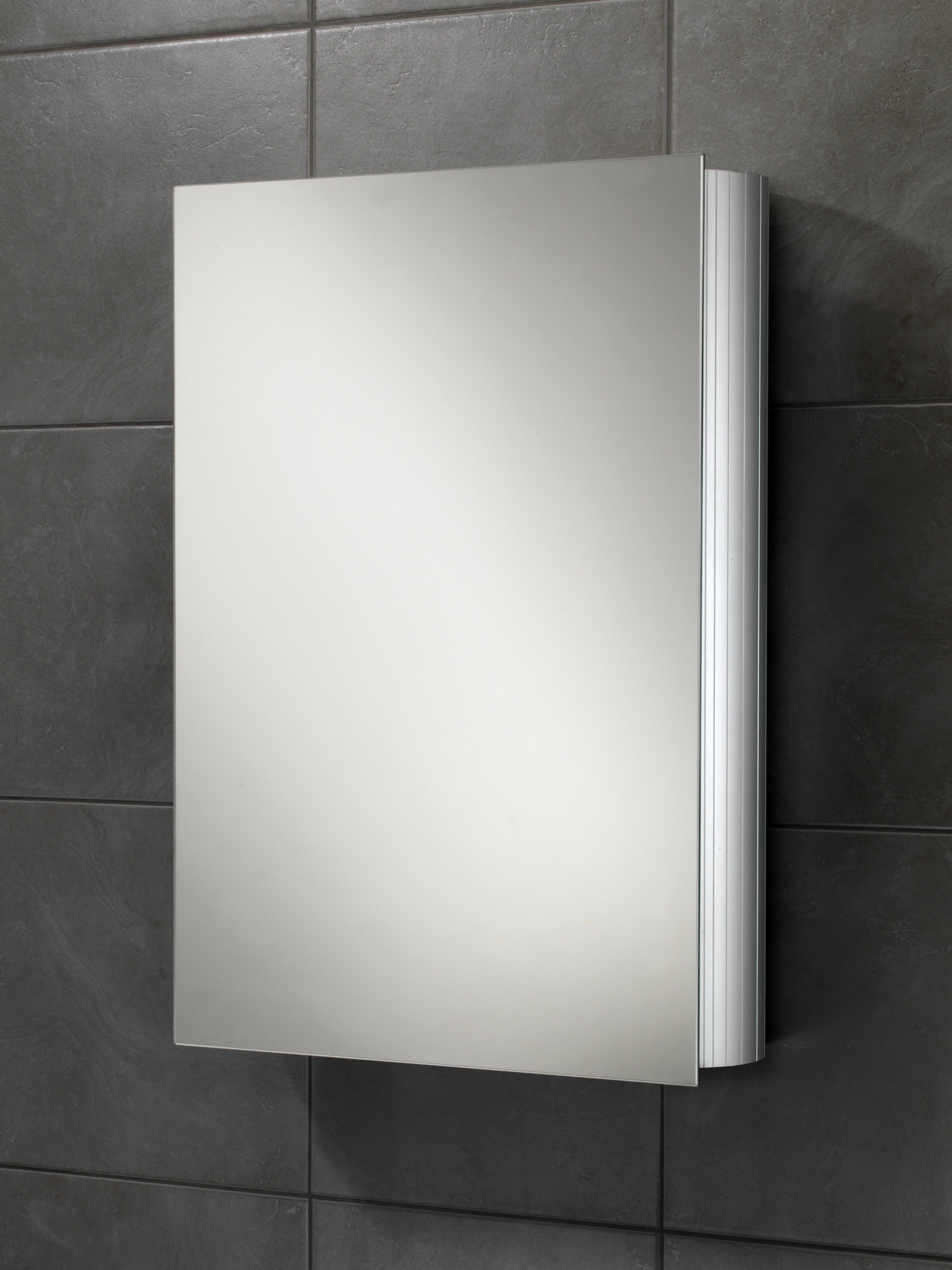 Hib Nitro Single Door Aluminium Mirrored Cabinet X