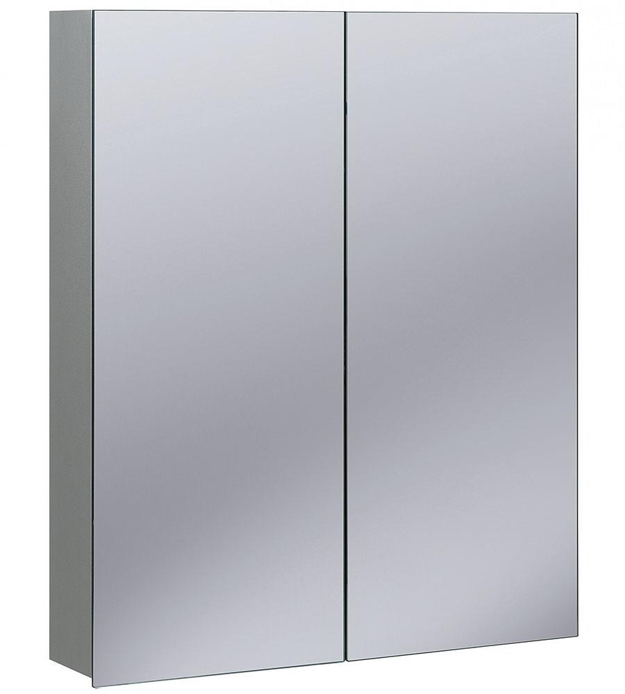 Bauhaus Non Electric 600 X 720mm Double Door Mirrored Cabinet ...