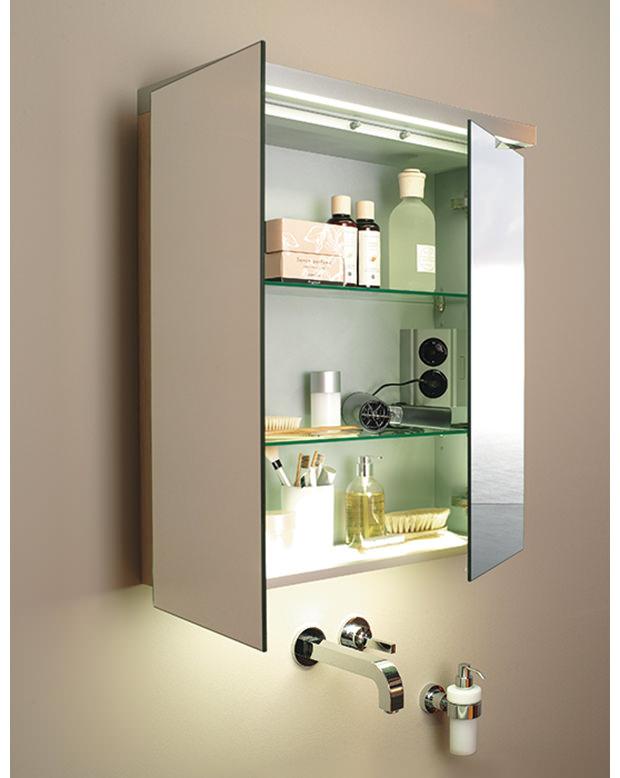 Duravit fogo 600mm 2 door mirror cabinet fo967201818 for Bathroom cabinets 600mm