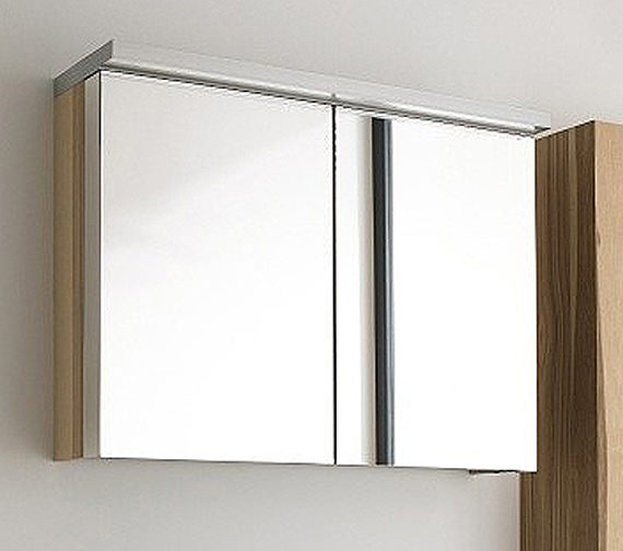 Fogo mirror cabinet 1000mm with wooden underfloor shelf for Bathroom mirror cabinets 900mm and 1000mm
