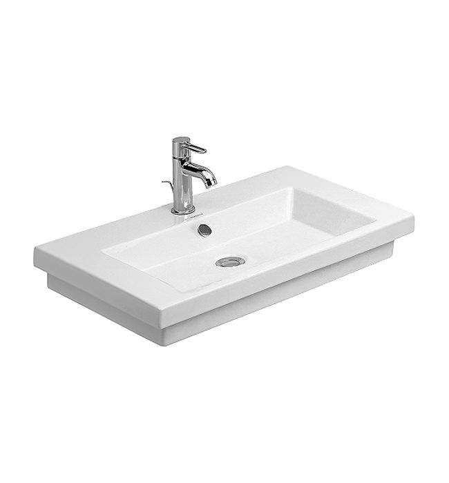 duravit 2nd floor single taphole washbasin 700mm 0491700000. Black Bedroom Furniture Sets. Home Design Ideas