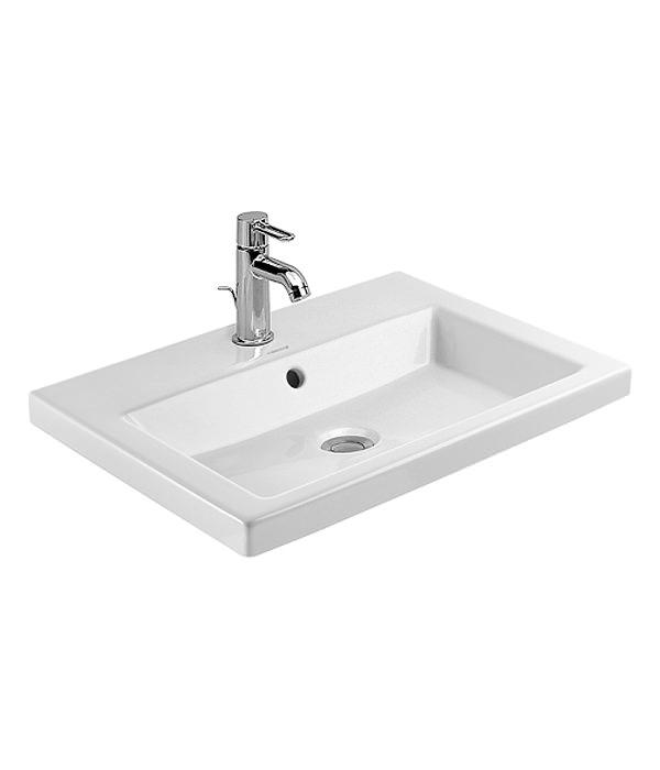 duravit 2nd floor 600 x 430mm vanity basin 0347600000. Black Bedroom Furniture Sets. Home Design Ideas