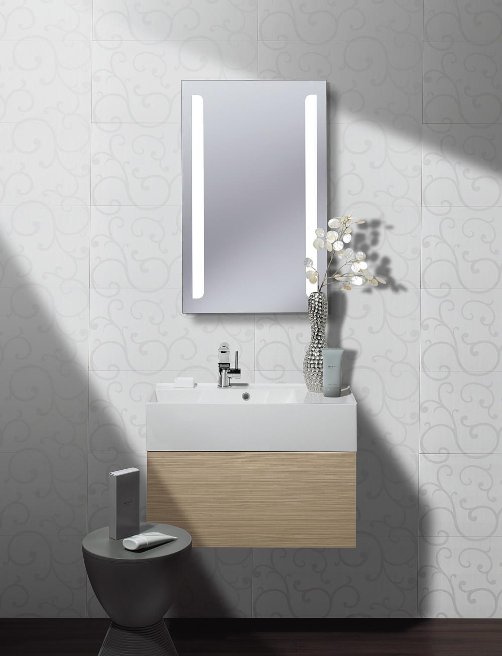 Bauhaus Elite Illuminated Led Back Lit Mirror 500 X 800mm