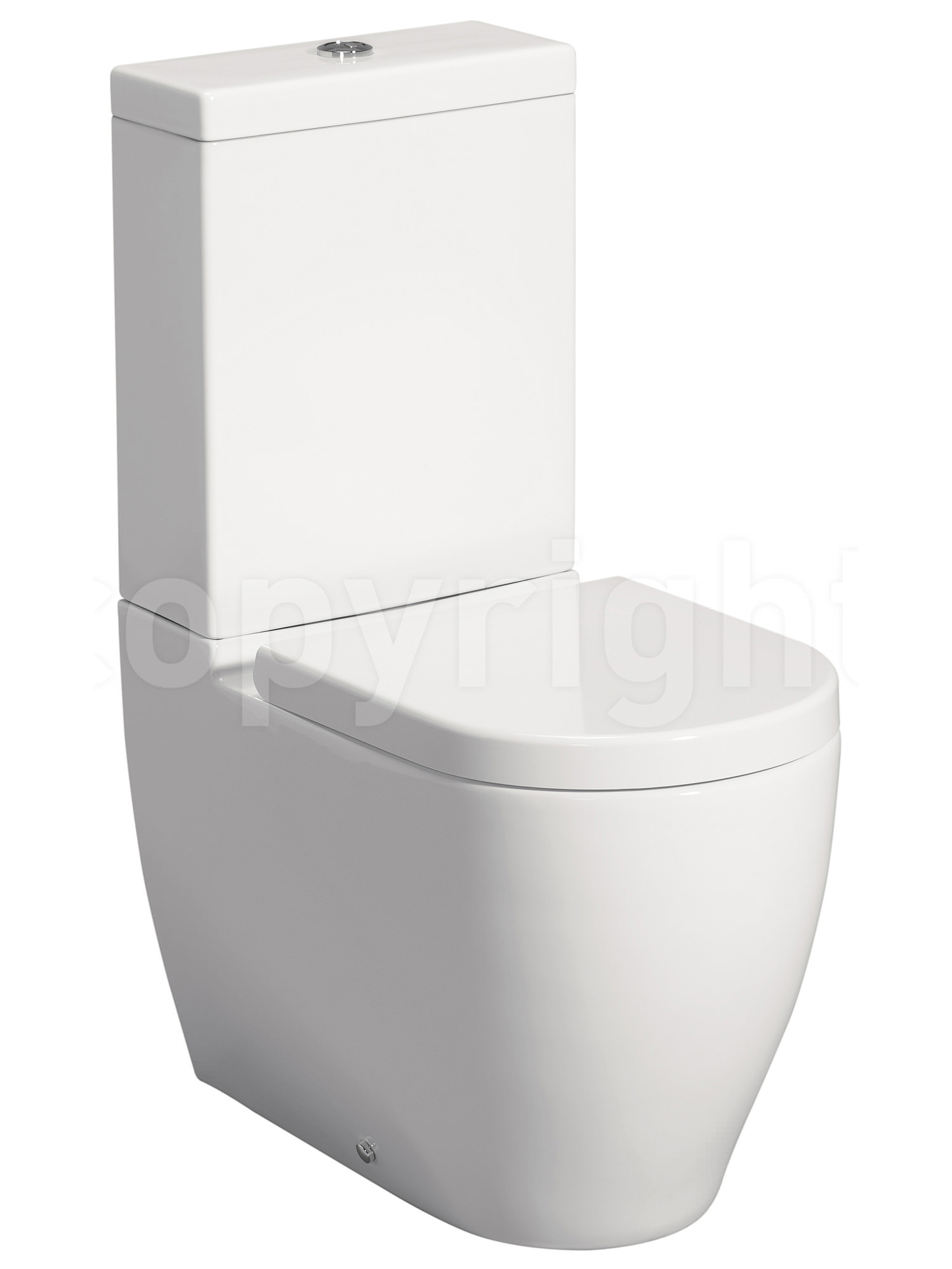 Bauhaus Stream Ii Close Coupled Wc Pan 630mm With Cistern