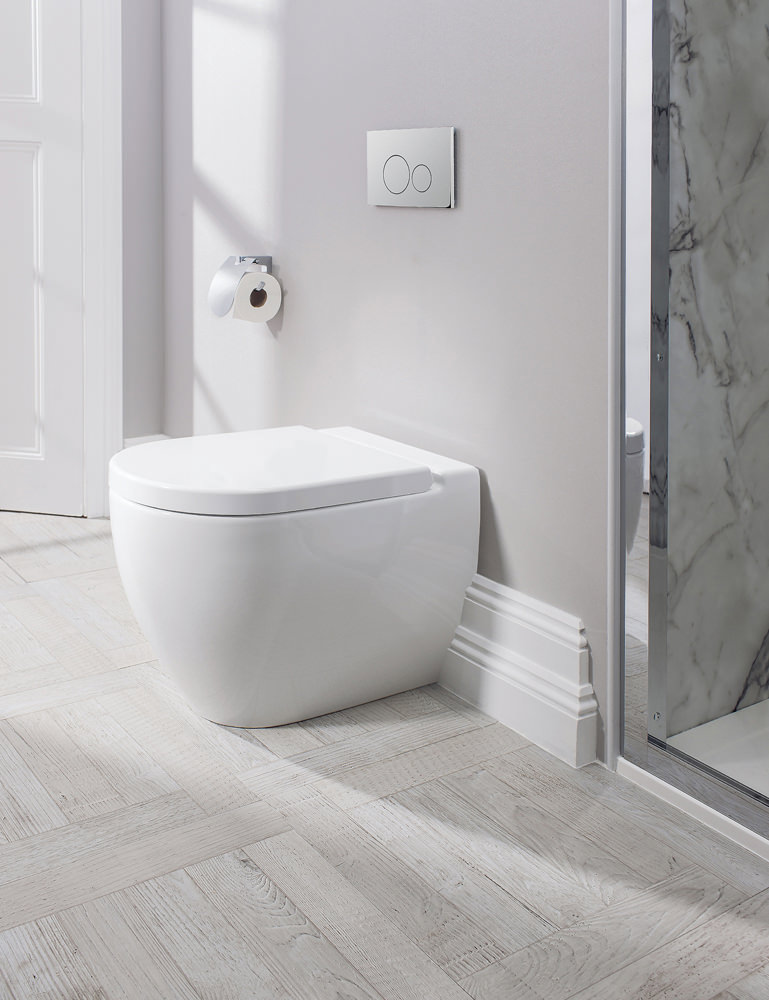 additional image of bauhaus stream ii back to wall wc pan 510mm and soft close seat