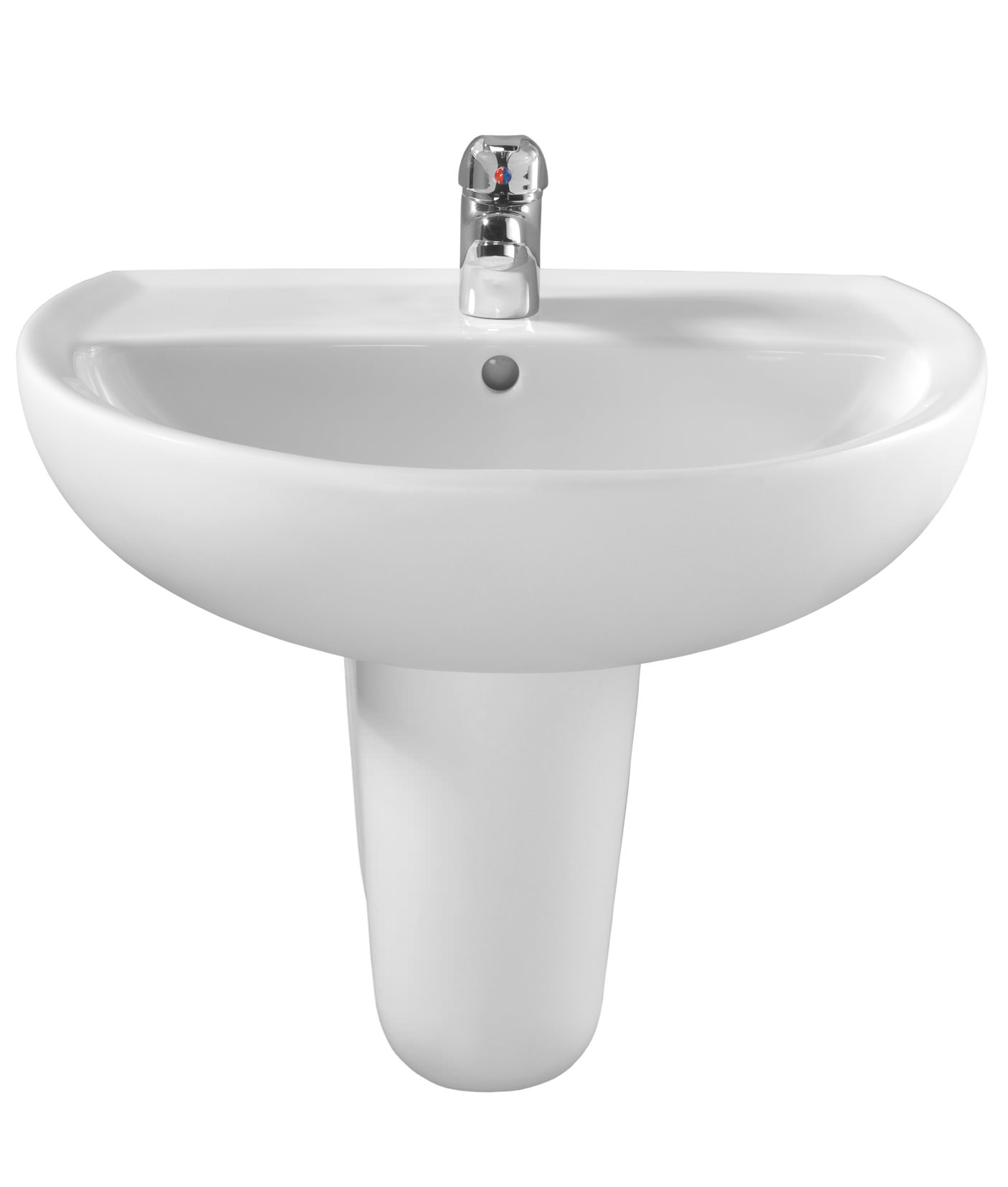 Twyford Alcona 550 X 420mm 1 Tap Hole Washbasin Ar4211wh