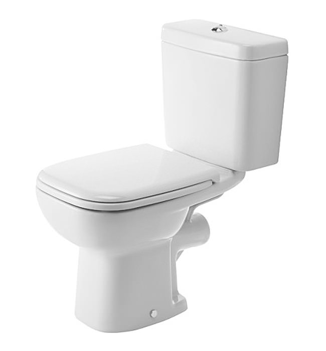 duravit d code 355 x 650mm close coupled toilet with cistern. Black Bedroom Furniture Sets. Home Design Ideas