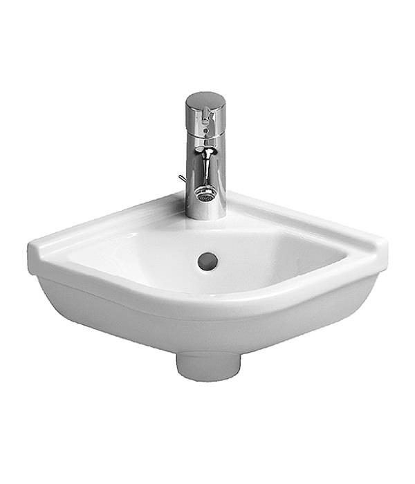 Duravit Starck 3 Corner Hand Rinse Basin With Overflow 430mm   075244 ...
