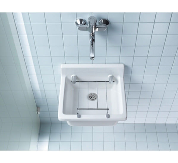 Duravit Starck 48 Utility Basin 48mm With Optional Grid 04814848000 Extraordinary Bathroom Utility Sink