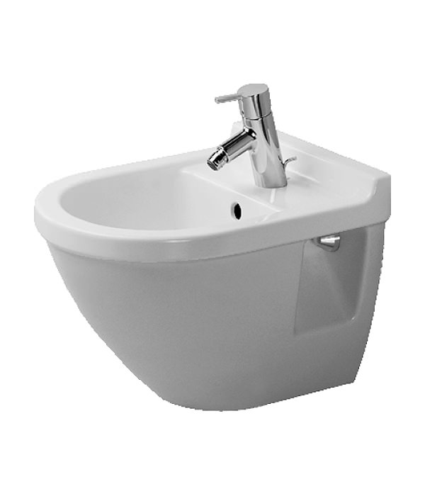 duravit starck 3 compact wall mounted bidet with overflow. Black Bedroom Furniture Sets. Home Design Ideas