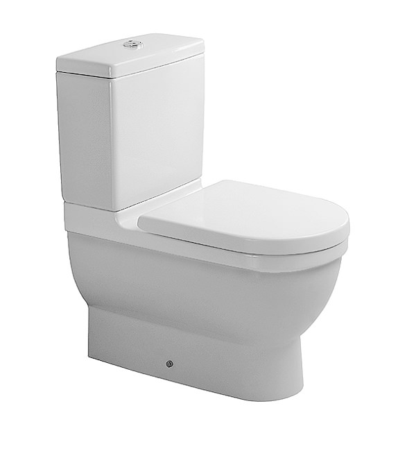 starck 3 close coupled toilet with cistern seat and cover 655mm. Black Bedroom Furniture Sets. Home Design Ideas