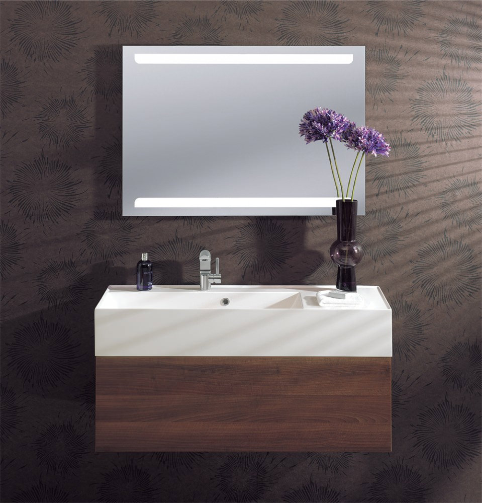 bauhaus elite illuminated led back lit mirror 700 x 1000mm me10070a. Black Bedroom Furniture Sets. Home Design Ideas