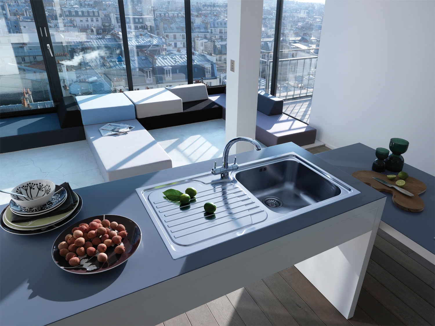 Franke Galassia Sink : ... of Franke Galassia GAX 611 Stainless Steel 1.0 Bowl Kitchen Inset Sink