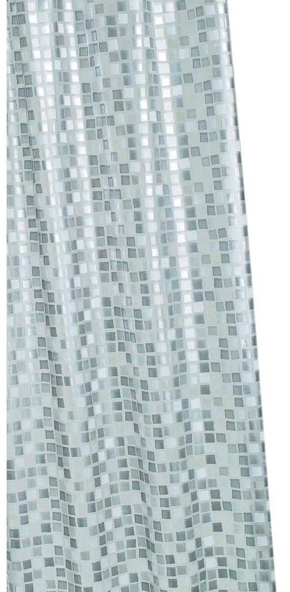 Croydex Silver Mosaic PVC Shower Curtain AE543440