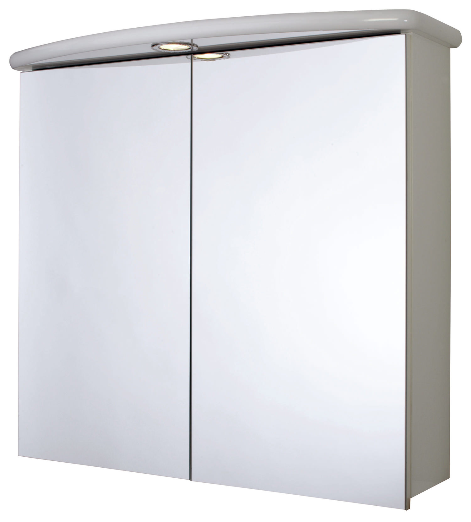 Croydex thames double door illuminated mirror cabinet wc146122e for Double door mirrored bathroom cabinet