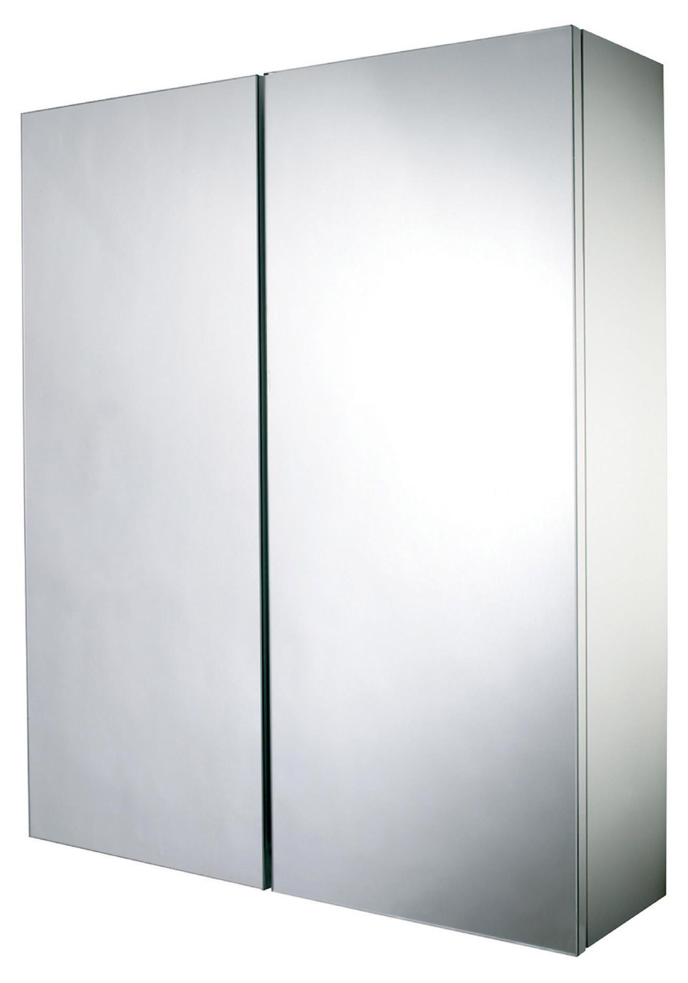 Croydex alaska hang n lock double door mirror cabinet wc700222 for Double door mirrored bathroom cabinet