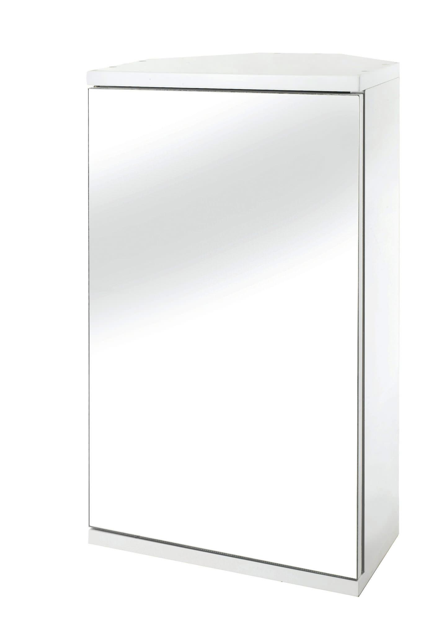croydex simplicity self assembly corner wooden mirror