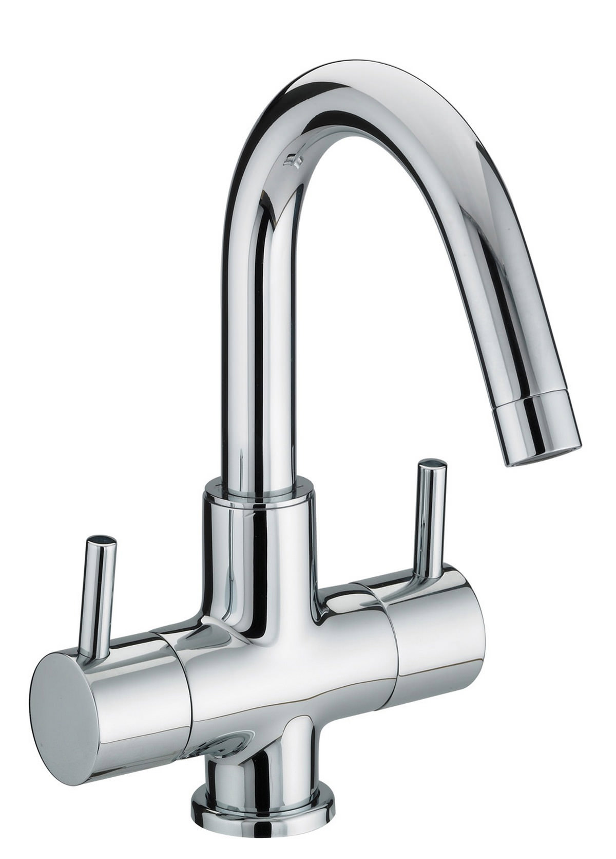 Bristan prism 2 handle basin mixer tap with swivel spout for Bathroom taps