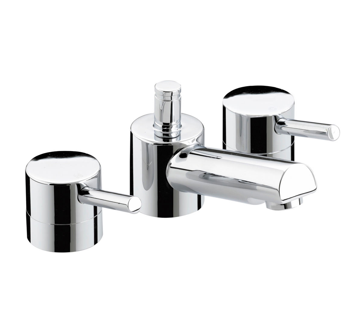 Bristan Prism 3 Hole Basin Mixer Tap With Pop Up Waste -PM 3HBAS C