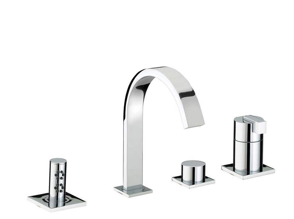 Chrome Bristan Kitchen Taps: Bristan Chill Chrome 4 Hole Bath Shower Mixer Tap
