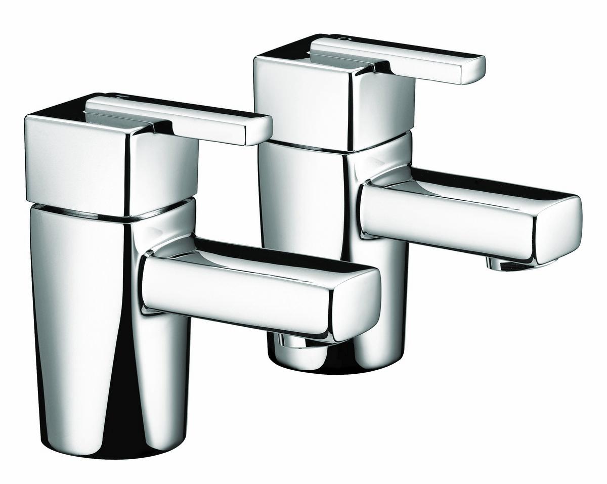 Chrome Bristan Kitchen Taps: Bristan Qube Chrome Basin Taps