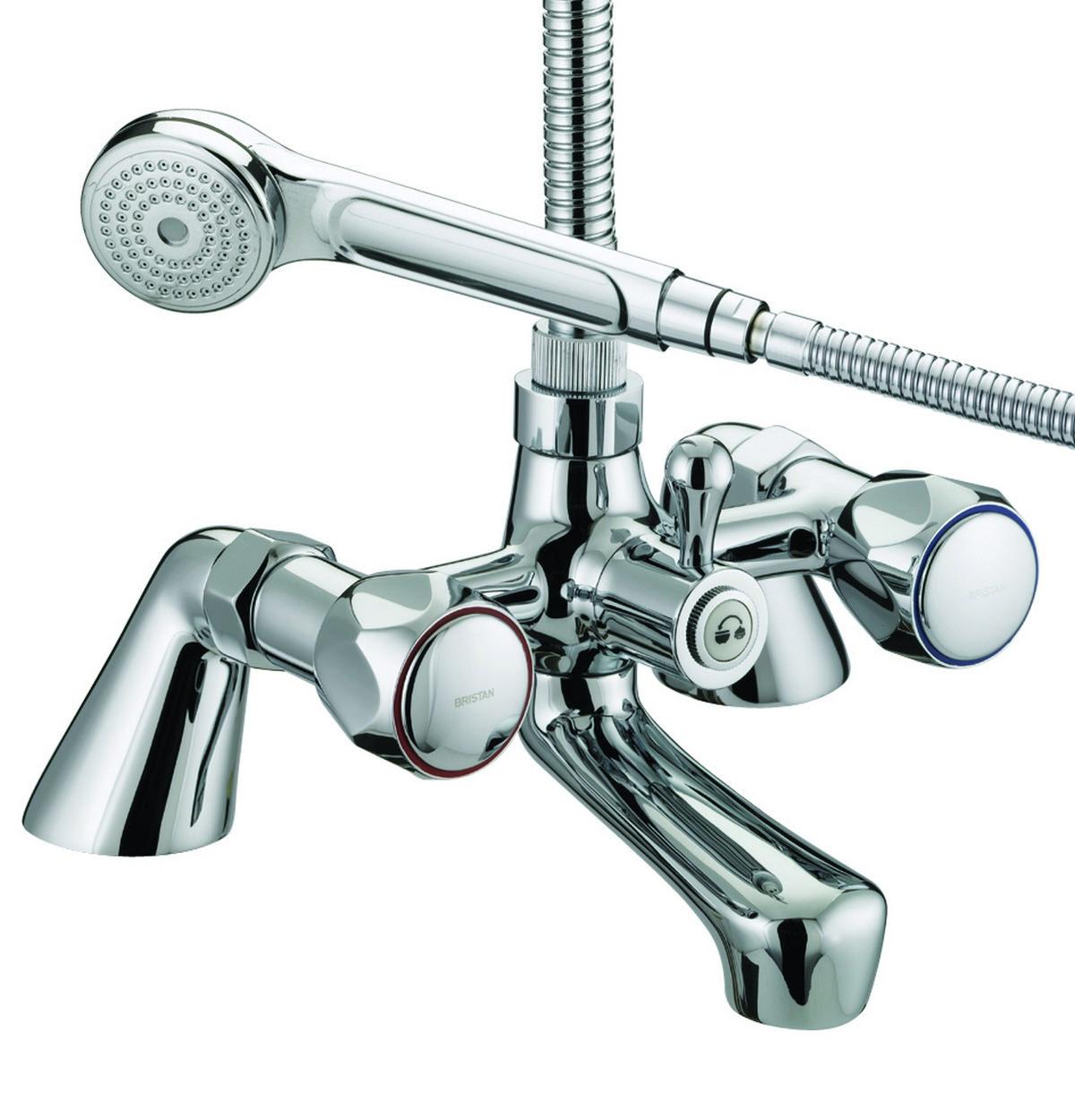 Bristan Value Club Pillar Bath Shower Mixer Tap - VAC PBSM C MT