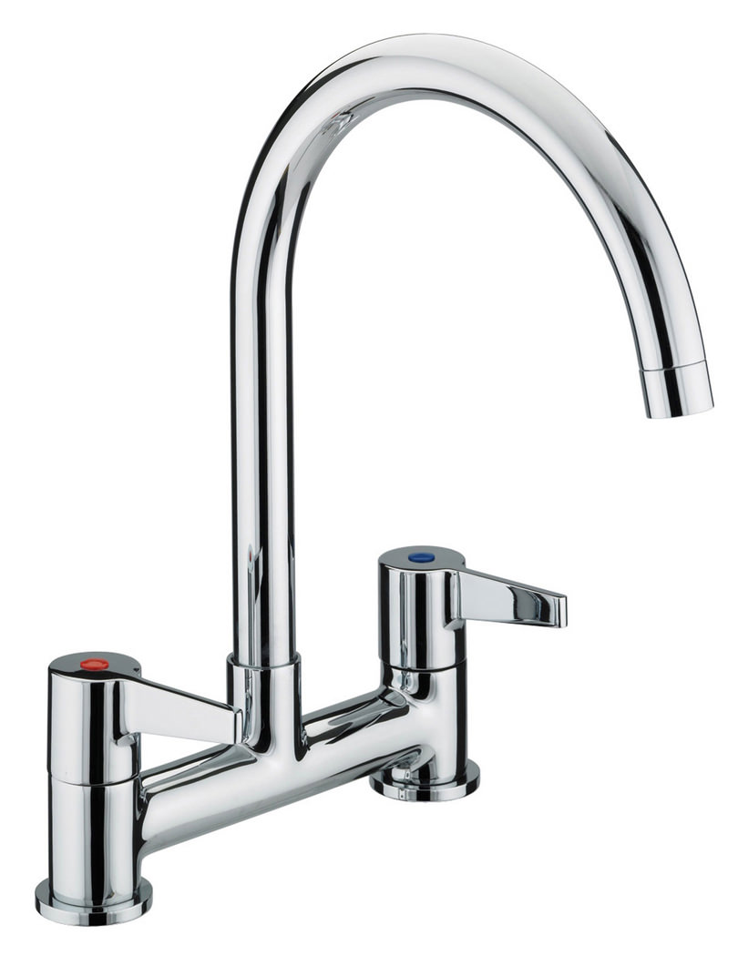 Bristan Design Utility Kitchen Deck Lever Handles Sink Mixer Tap ...