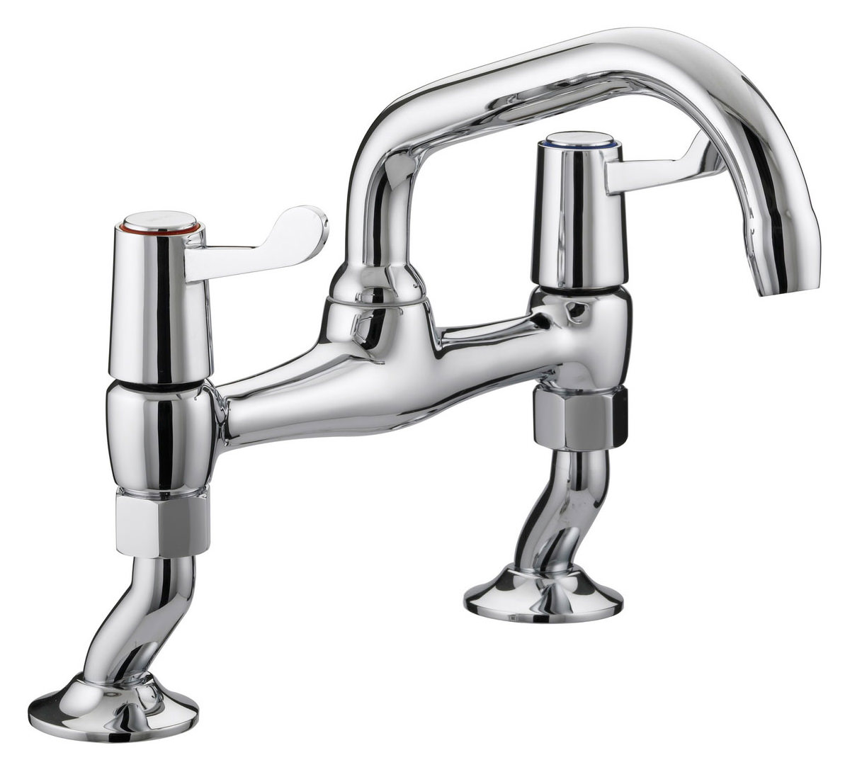kitchen sink pillar taps bristan value lever pillar bridge sink mixer tap val 5889
