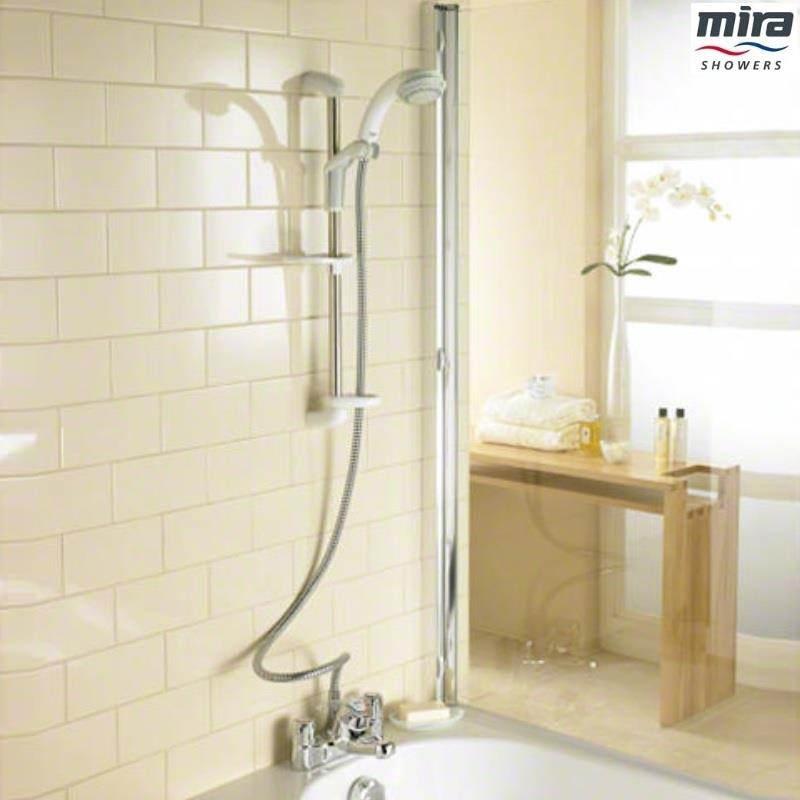 Mira Extra Ev Exposed Valve Bath Shower Mixer White And Chrome