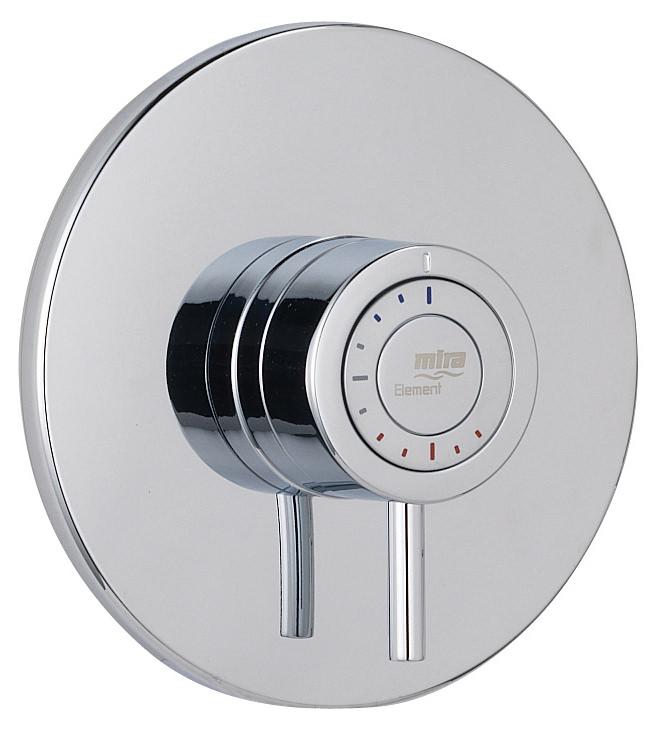 Thermostatic Mixer Shower Mira Showers 1.1656.013 Element SLT Built-in Rigid BIR Chrome