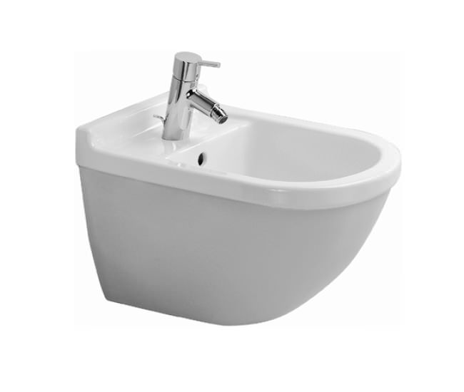 duravit starck 3 bidet wall mounted with overflow 228015. Black Bedroom Furniture Sets. Home Design Ideas