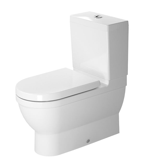 starck 3 close coupled toilet with seat and cover 214109. Black Bedroom Furniture Sets. Home Design Ideas