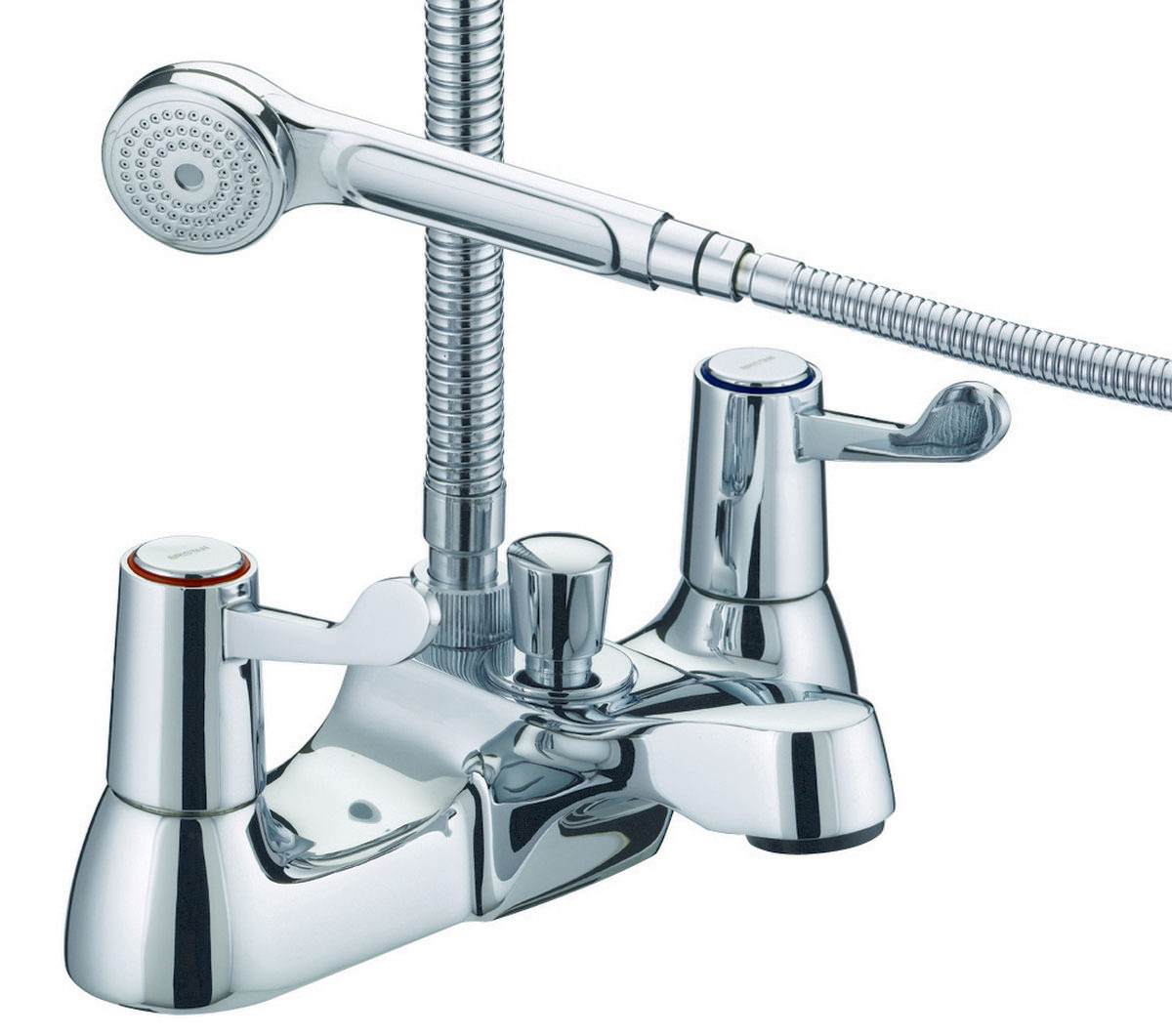 Bristan Lever Bath Shower Mixer Tap With 3 Inch Levers