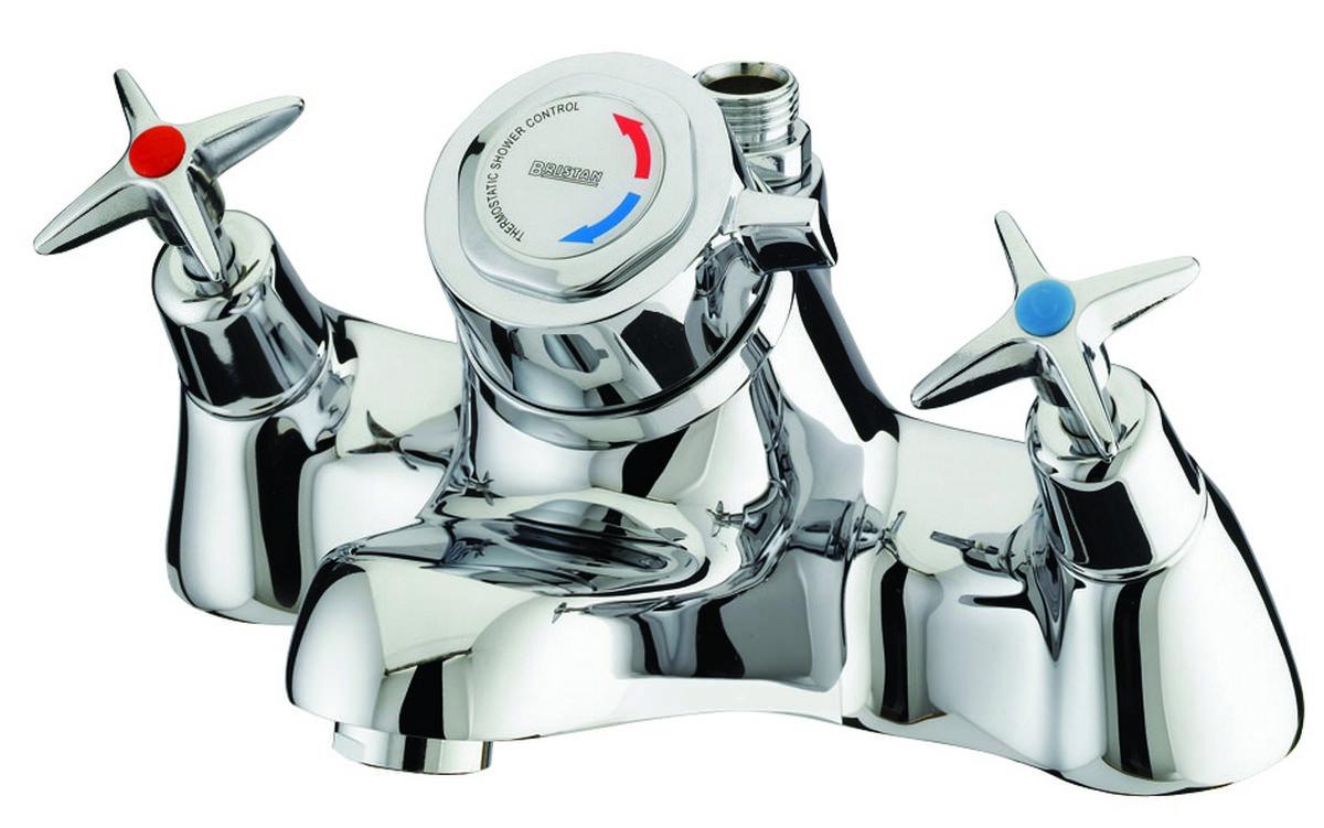 Bristan Value Cross Top Thermostatic Bath Shower Mixer Tap