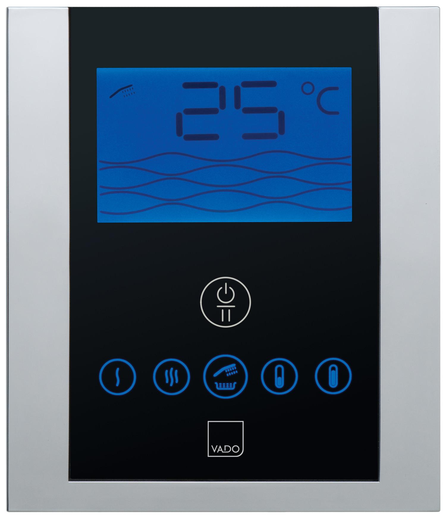Digital shower temperature control - Vado Identity Digital Thermostatic Shower Valve With Diverter