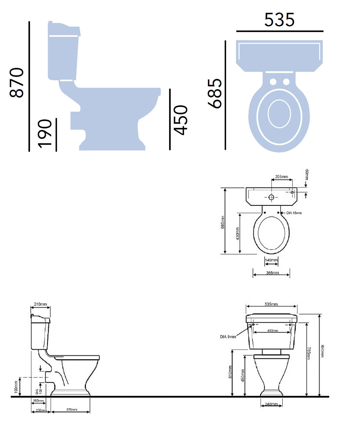 Heritage Granley Comfort Height Wc And Cistern Pgrwc00