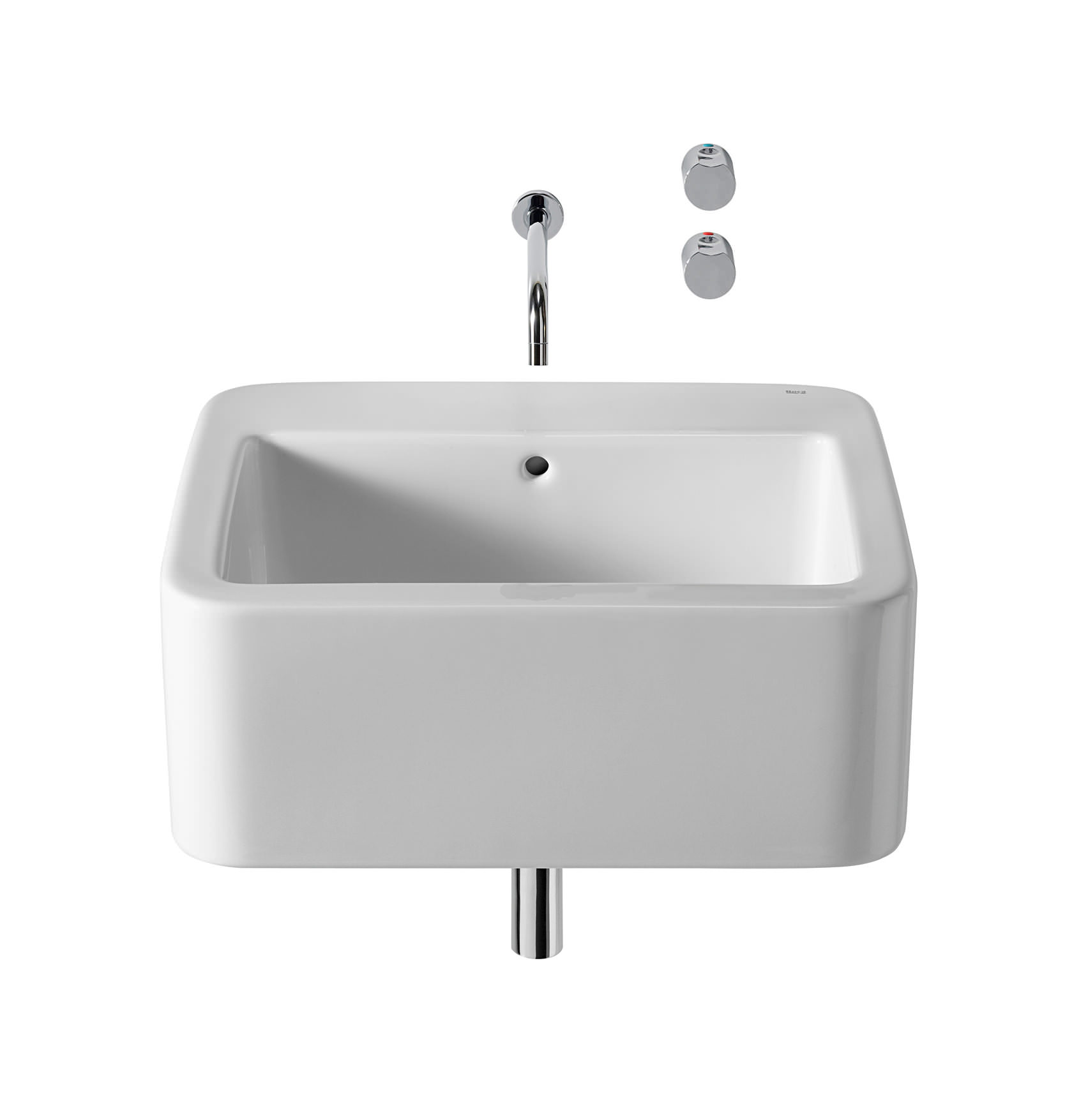 Roca Element Wall Hung Basin 600mm x 515mm - 327570000
