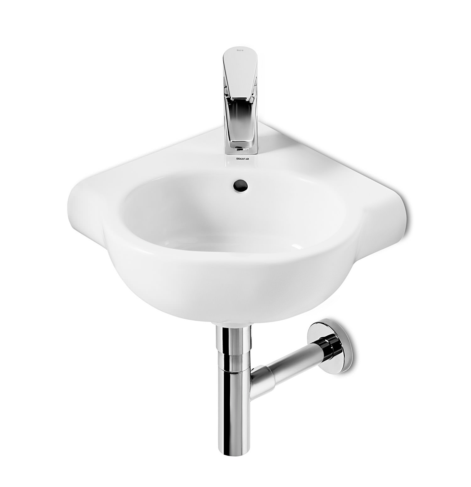 roca bathroom sinks roca meridian n compact corner basin 350mm wide 32724c000 14235 | QS V55535 1 lg