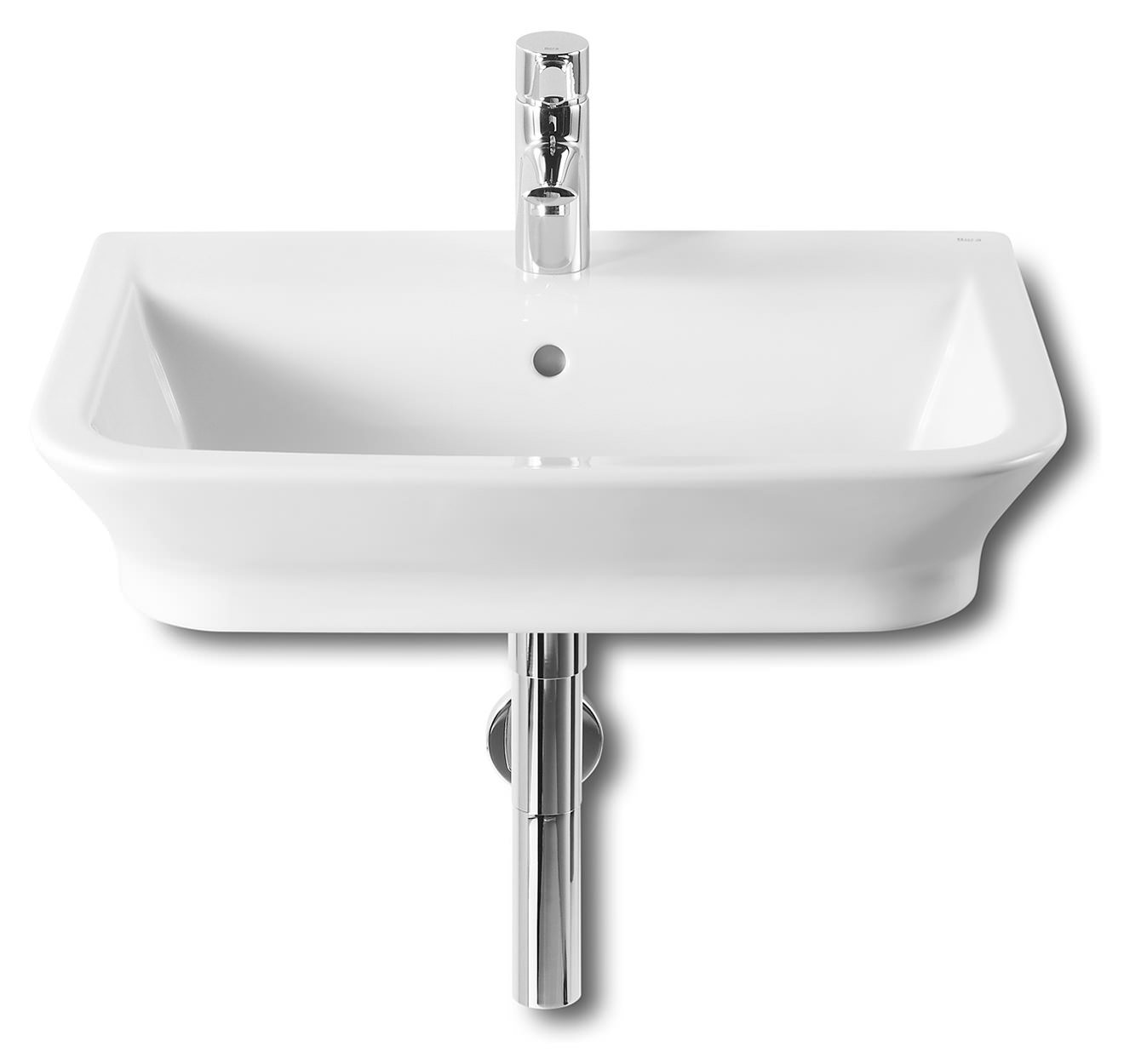 Roca the gap white basin 600 x 470mm wide 327474000 for Roca the gap