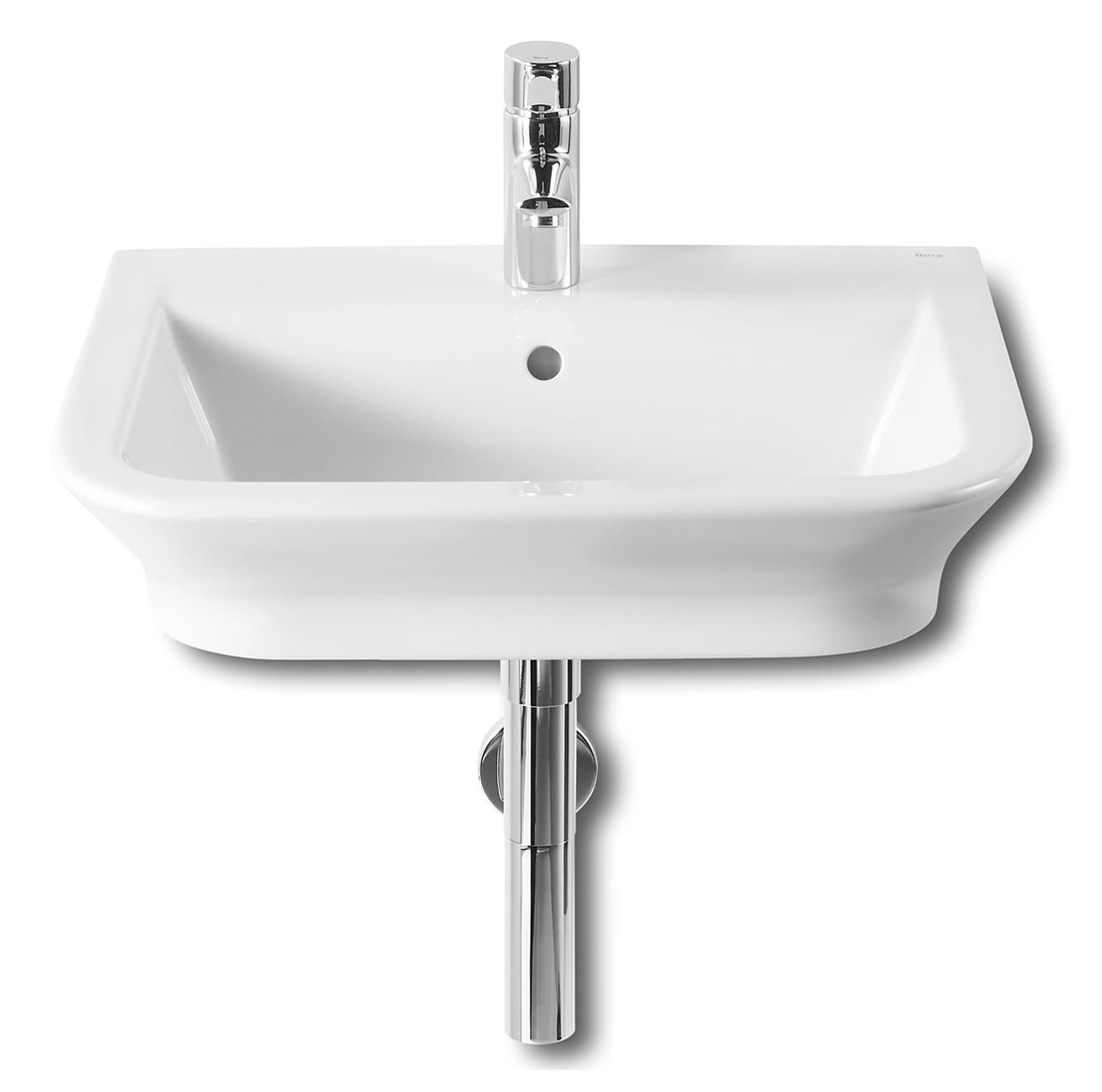 roca the gap wall hung or countertop basin 550mm wide 327475000. Black Bedroom Furniture Sets. Home Design Ideas