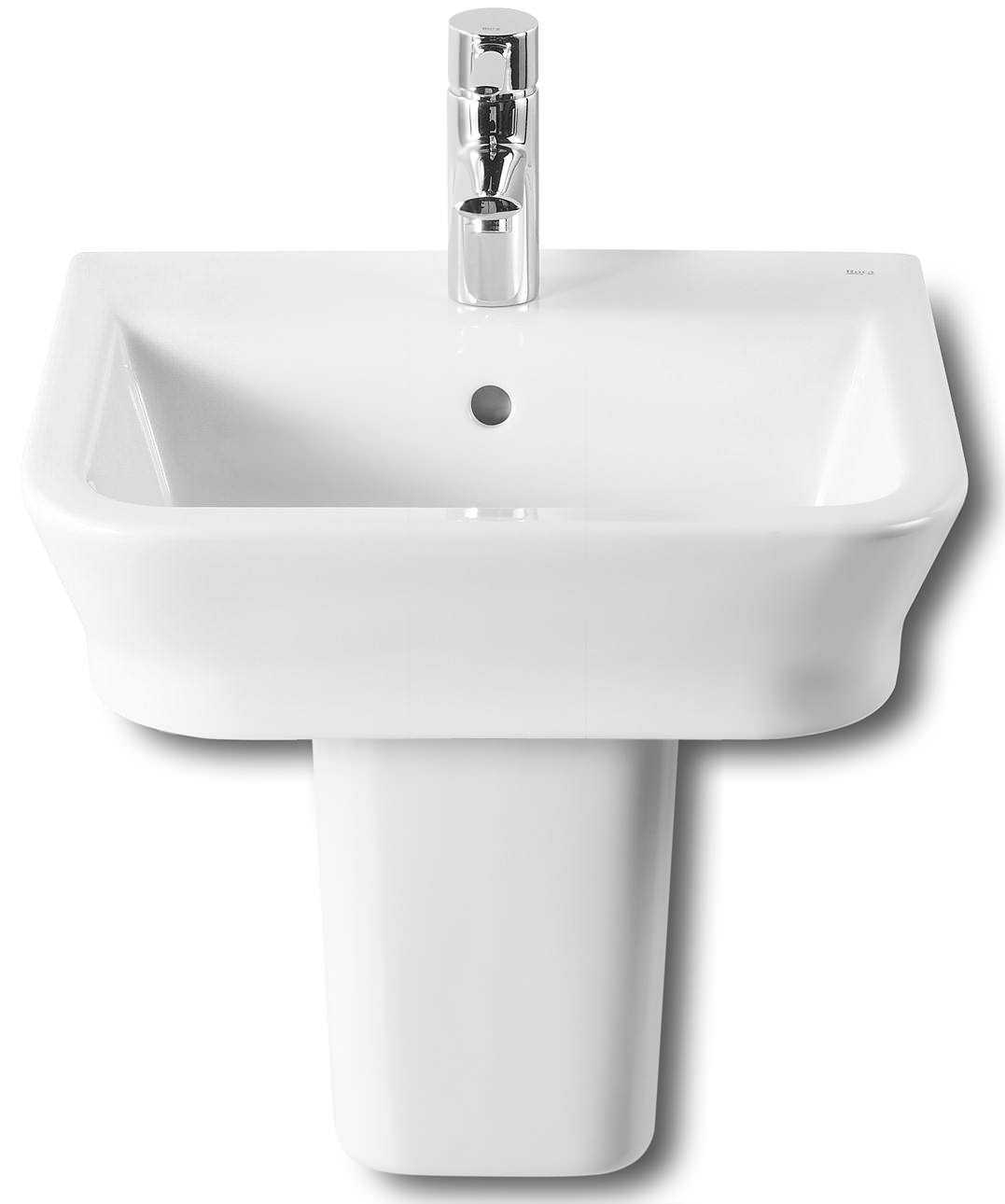 roca bathroom sinks roca the gap white basin 450mm wide 327477000 14235 | QS V55553 1 lg