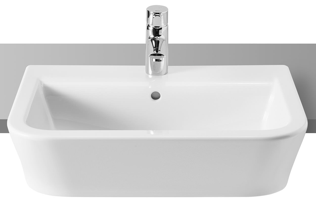 Roca The Gap White Semi Recessed Basin 560mm Wide 32747s000