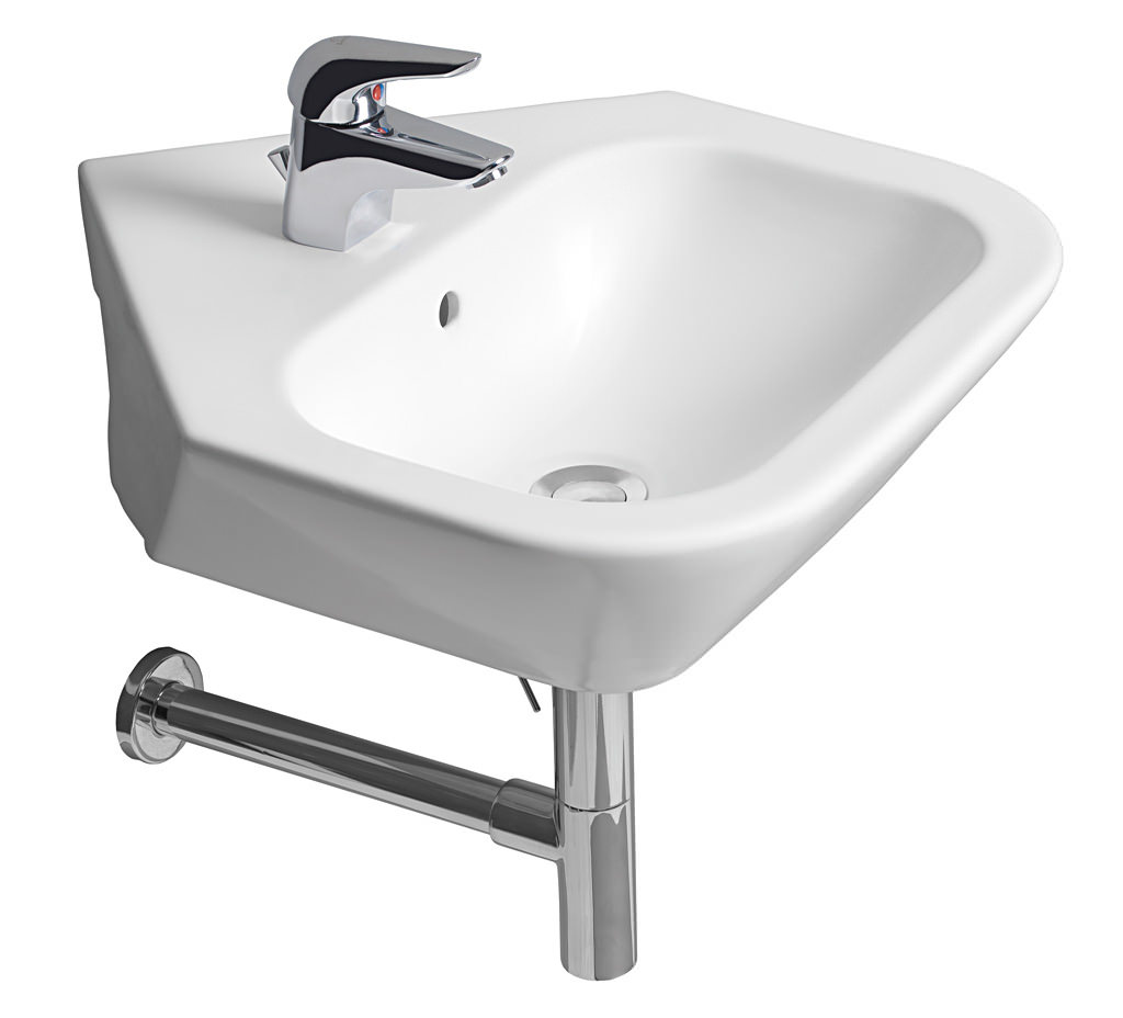 roca bathroom sinks roca nexo corner basin 500mm wide 327646000 14235 | QS V55567 1 lg