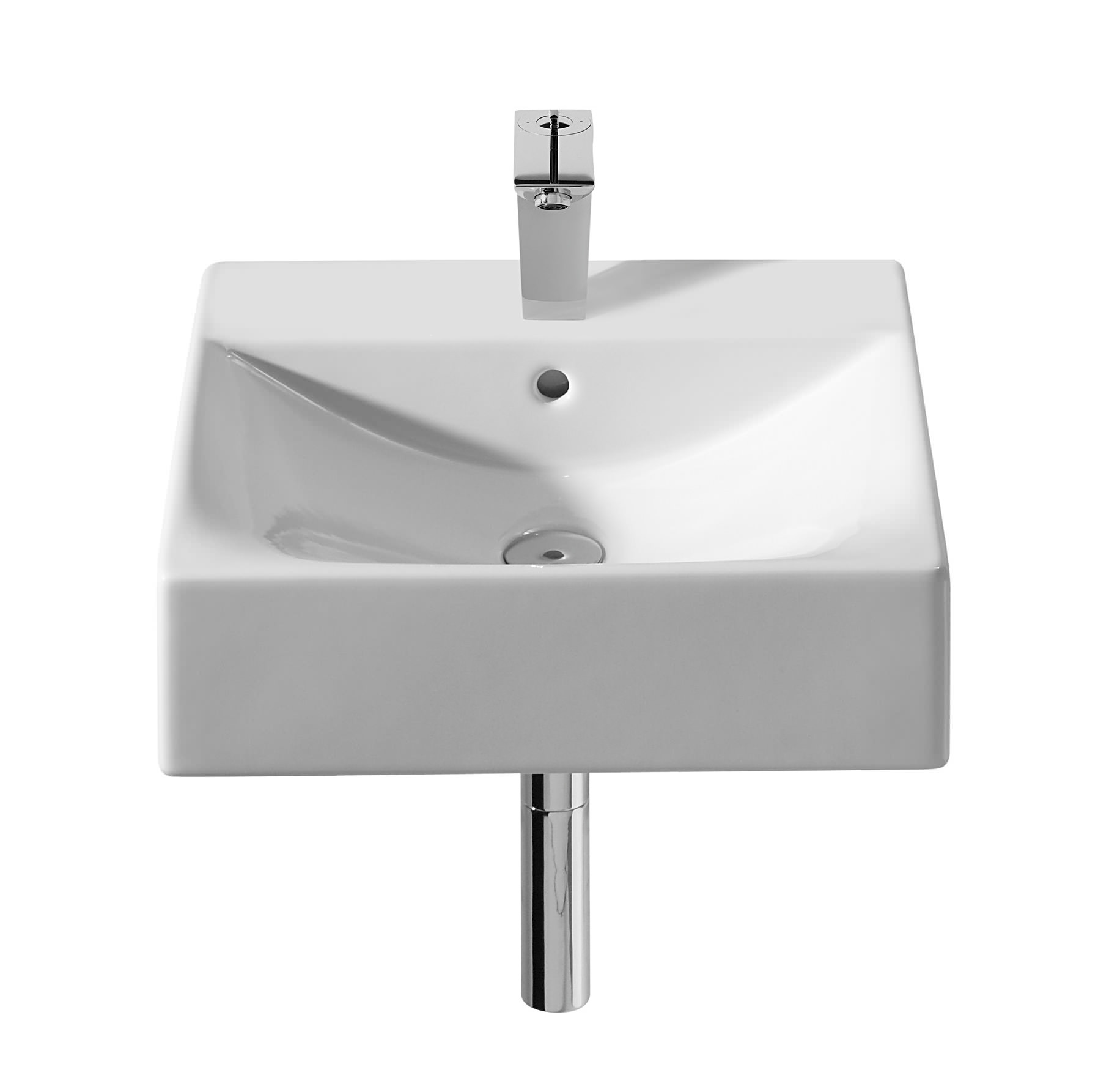 roca diverta vanity basin with 1 tap hole 470mm wide