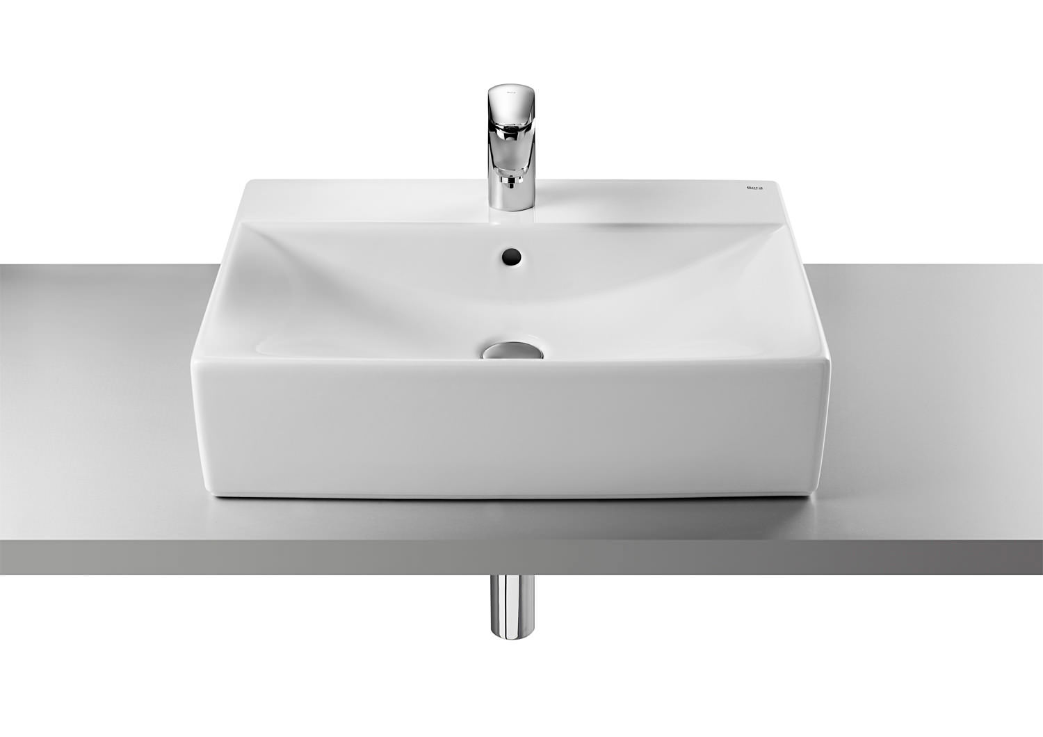 roca diverta on countertop basin 600mm wide 32711g000