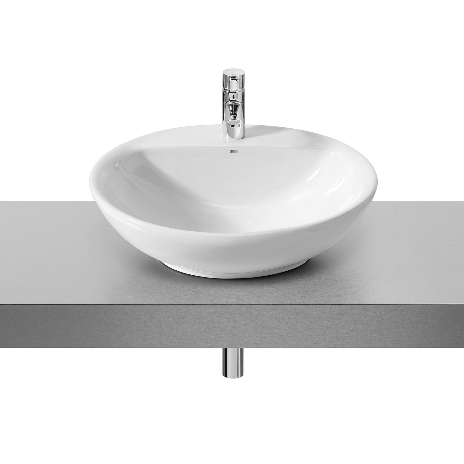 Roca Fontana White On Countertop Basin 600mm Wide 327877000