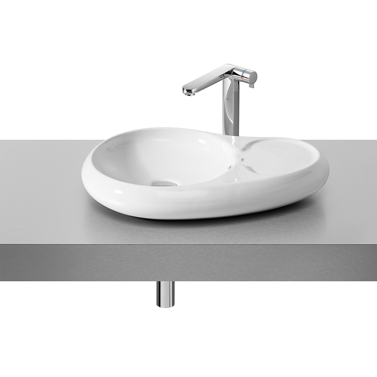 Roca Bathroom Accessories Roca Urbi 7 On Countertop Basin 600mm X 400mm 327227000