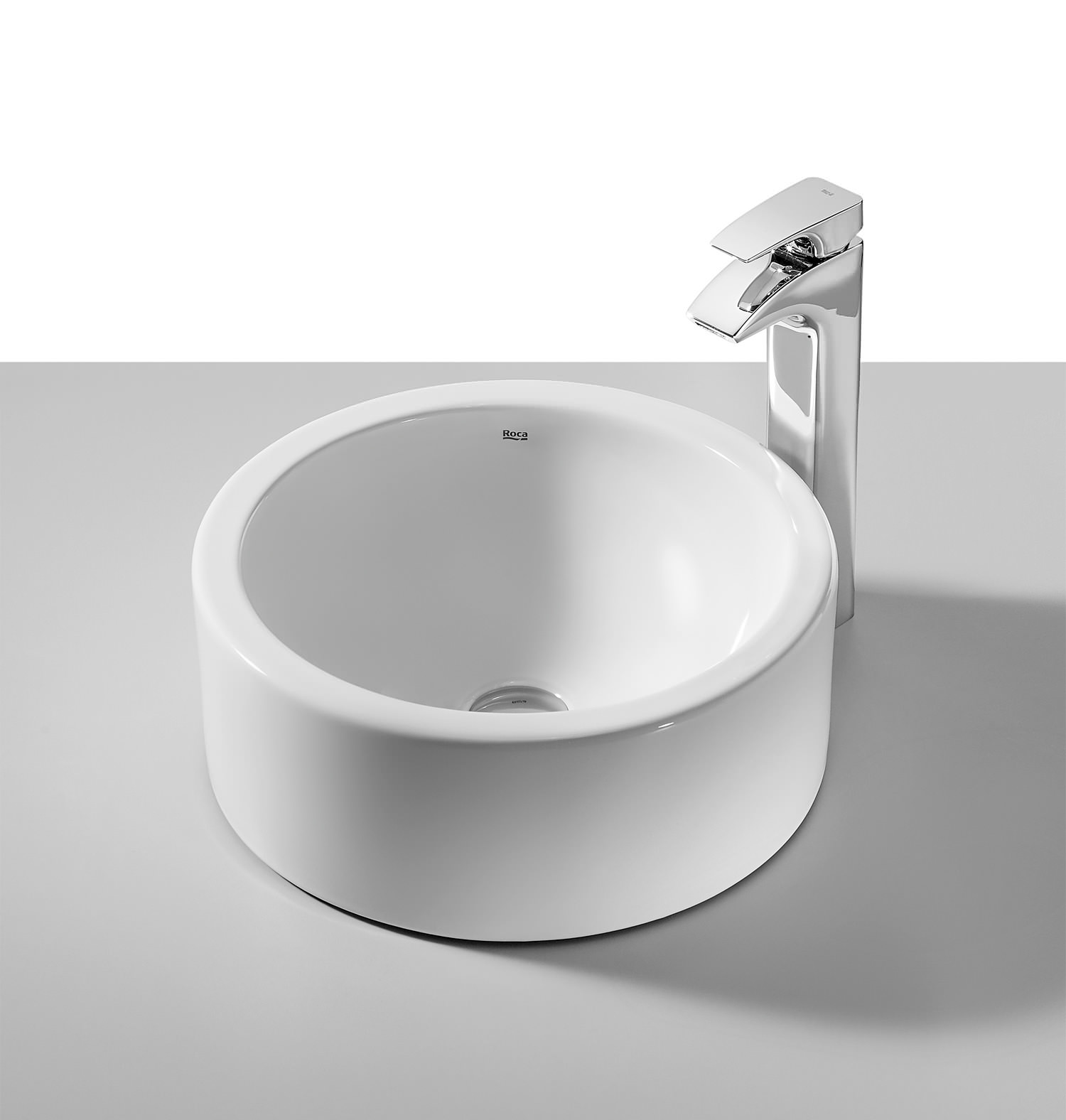 Roca Terra White On Countertop Basin 390mm Dia 32722d000
