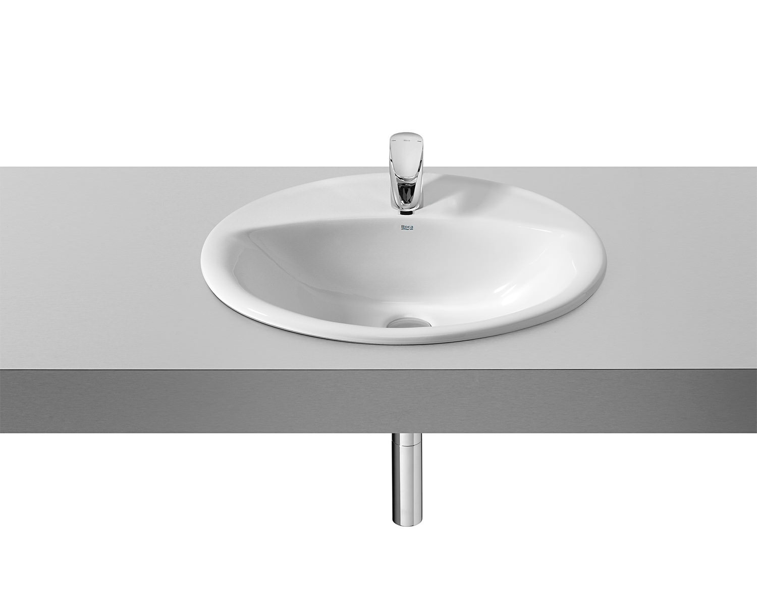 roca java white in countertop basin 560 x 475mm - Roca Wash Basin