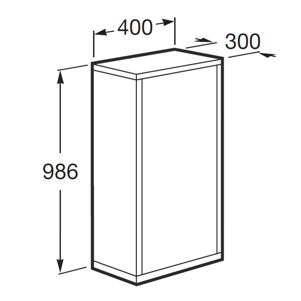 Roca Veranda N Column Unit With Straight Sides 400mm Wide 856194620
